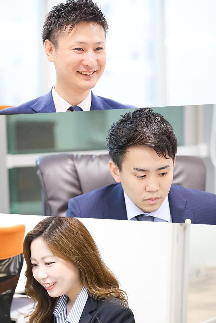 スタッフの仕事中の写真
